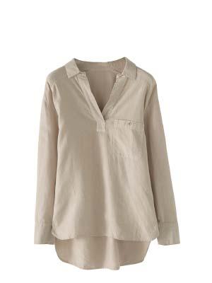 Button-side Linen Shirt