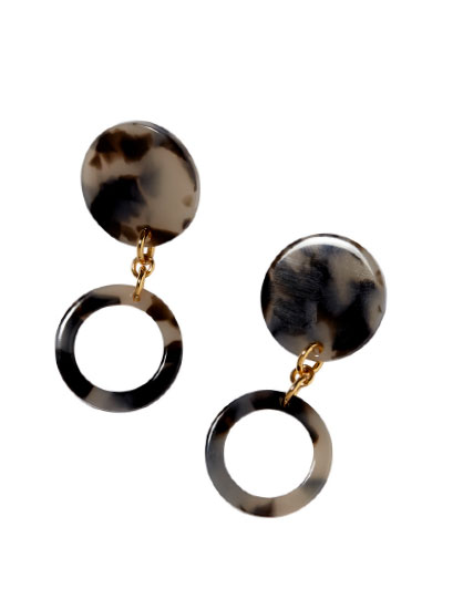 Double-drop earrings