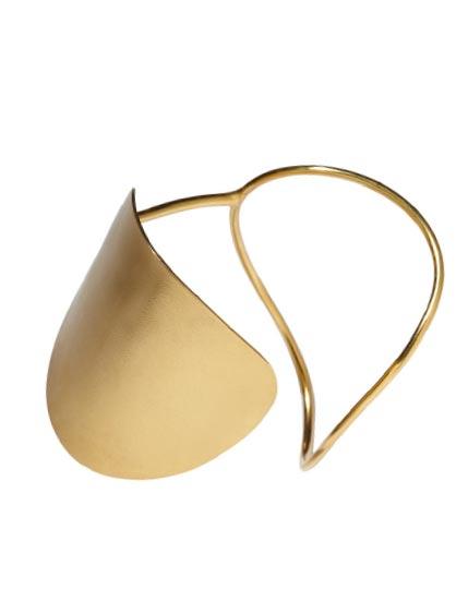 Minimal gold cuff