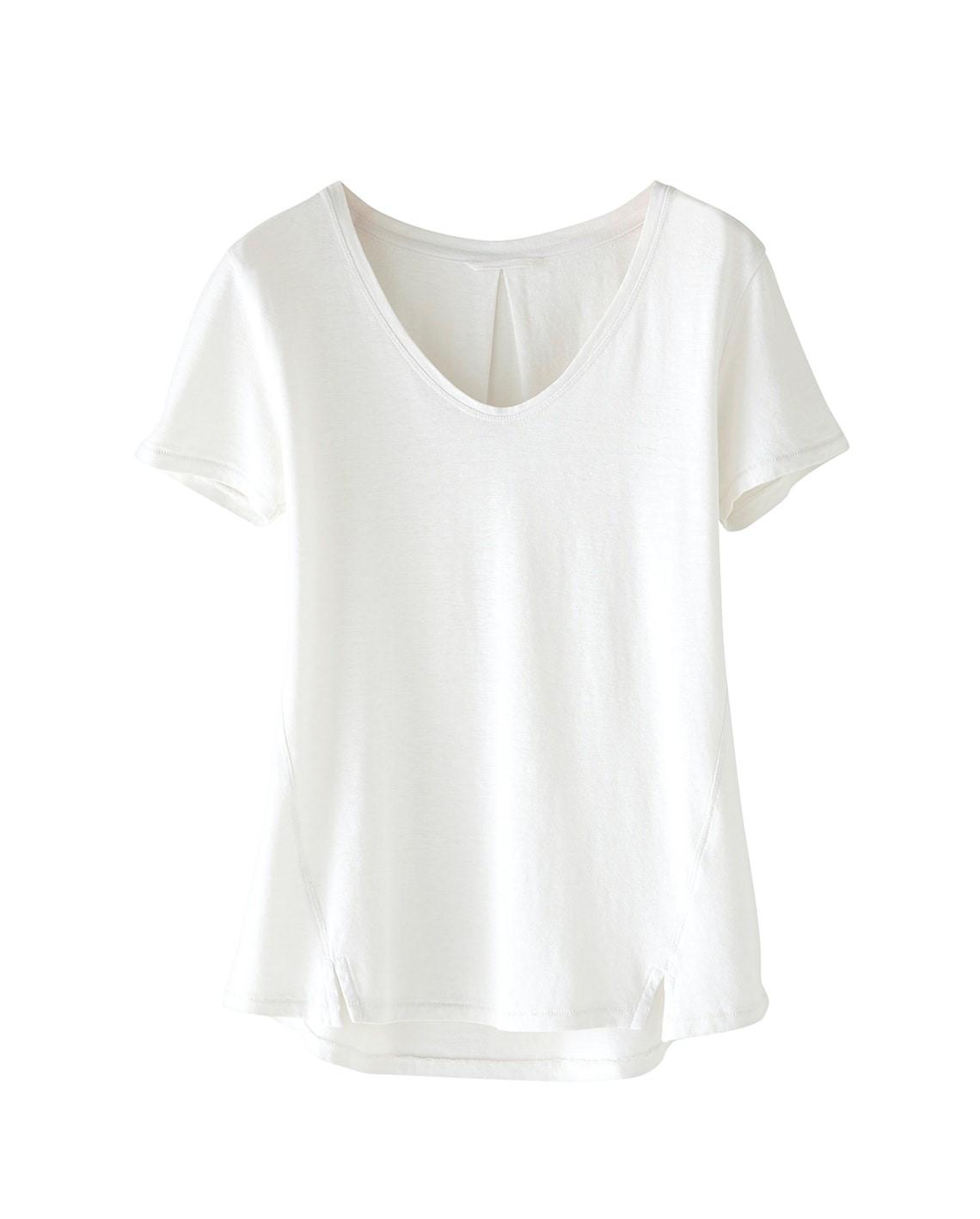 Hemp Cotton Split-front T-shirt