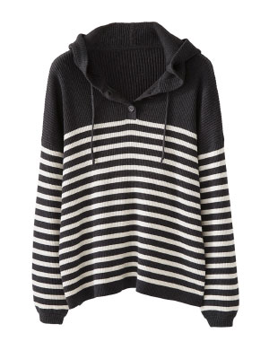 Cotton Striped Hoody