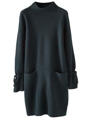 Boiled Wool Tunic Dress
