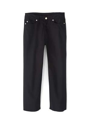 Black Wide Straight Crop Jeans