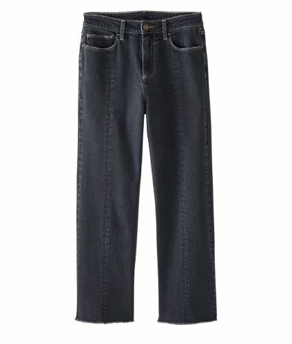 Kick-flare Cropped Jeans
