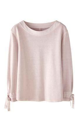 Woven Trim Sweatshirt