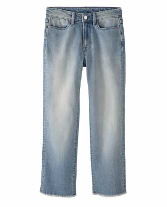 Light-wash Straigh Crop Jeans