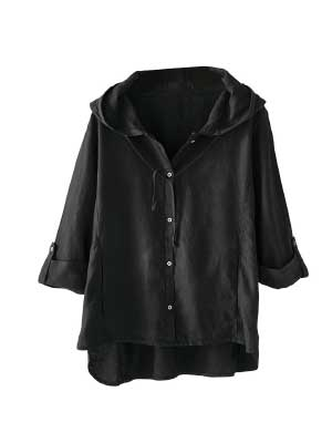 Hooded Linen Jacket